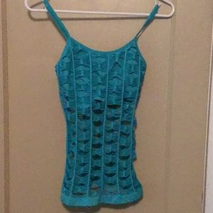 Teal stretchy top